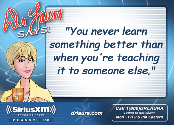 You never learn something better than when you're teaching it to someone else.